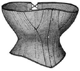 1868 Corset of White Drilling Pattern