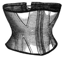 1869 Corset for Girl 10-12 Years Pattern