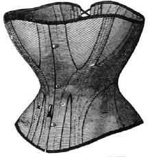 1868 Corset of Brown Drilling