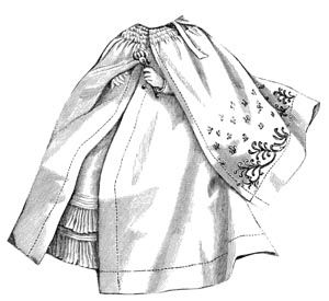 1892 Baby's Long Cloak Pattern