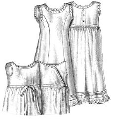 1892 Baby's Cambric & Flannel Petticoats Pattern
