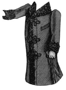 1891 Coat for Boy 4-6 Years Pattern