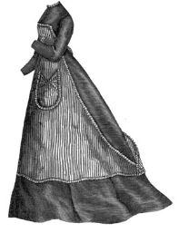 1868 Kitchen Apron Pattern