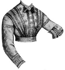 1868 Waist with Simulated Bretelles Pattern