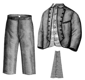 1868 Suit for Boy 8-10 Years Pattern