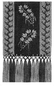 1876 Cradle or Carriage Afghan Pattern