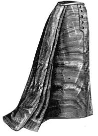 1893 Skirt with Watteau Pleat Pattern
