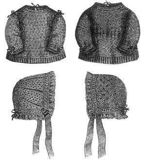 1869 4 Infant's Knitted Items Pattern