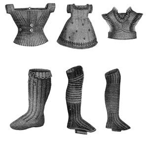 1869 6 Child's Knitted Items Pattern