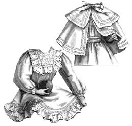 1896 Frock & Cape for Girl 5-6 Years Pattern