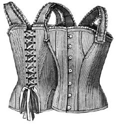 1890 Corset Waist for Girl 12-14 Years Pattern