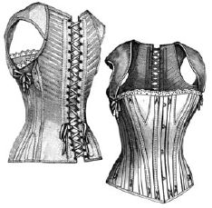 1890 Corset with Shoulder Braces for Girl 13-15 Yrs