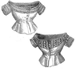1873 2 Styles of Muslin Corset Covers