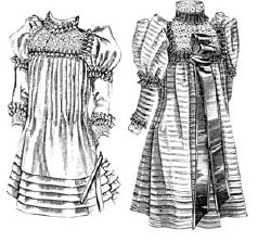 1892 Frock for Girl 5-7 Years Pattern