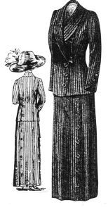 1912 P�kin� Wool Suit Pattern