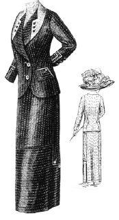 1912 Pin Striped Suit Pattern