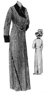 1912 Gray & White Stripe Spring Coat Pattern