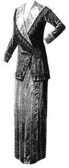 1912 Gray Taffeta Suit Pattern