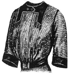 1912 Black & White with Blue Wool Blouse