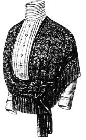 1912 Lace Cape for Elderly Lady Pattern