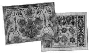 1902 Embroidery Designs for 2 Cushions