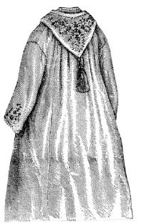1873 Flannel Bathing Cloak Pattern