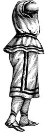 1873 Bathing Suit for Girl 7-9 Years Pattern