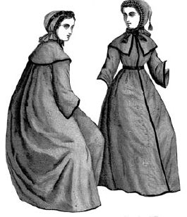1868 Bathing Cloak & 2 Caps Pattern