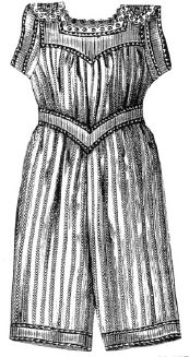 1893 Girl's Striped Swimming Suit Pattern
