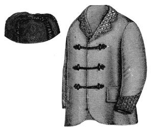 1868 Smoking Jacket & Cap Pattern