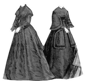 1868 Dress with Mantle & Fichu Pattern