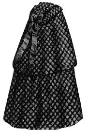 1868 Infant's Blue & White Cloak with Hood Pattern