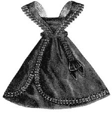 1869 Black Apron for Girl 6-8 Years Pattern