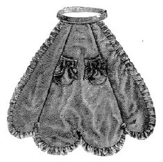 1869 Alpaca Apron for Girl 10-12 Years Pattern
