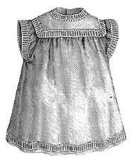 1870 Gray Linen Apron for Girl 4-6 Years Pattern