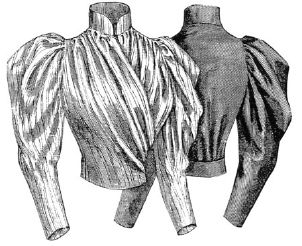 1893 Blouse with Surplice Front Pattern