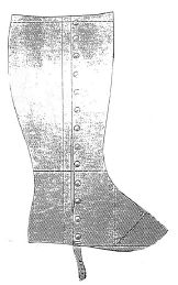1897 Ladies Gaiters Pattern