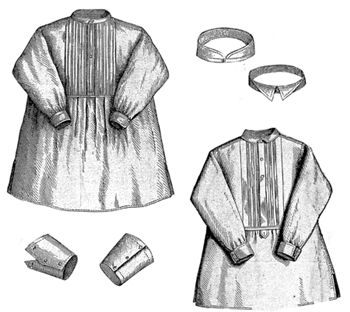 1869 2 Shirts, 2 Collars & 2 Cuffs for Boy 8-10 Years Pattern