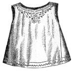 1869 Chemise for Girl 2-4 Years Pattern