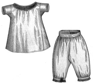1869 Chemise & Drawers for Girl 4-6 Years Pattern