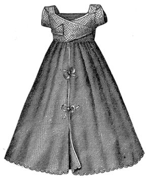 1869 Infant's Underskirt with Waist Pattern
