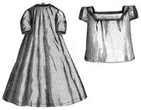 1869 Nightgown & Shirt for Child 1-2 Years Pattern