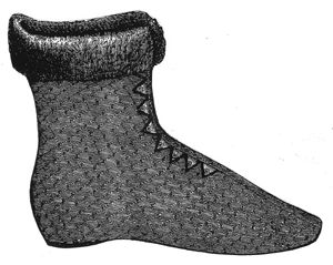 1868 Ladies Silk Boot Pattern