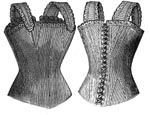 1887 Corset for Girl 12-14 Years Pattern