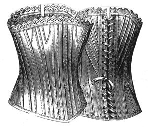 1887 Coutil Corset for Girl 12-14 Years Pattern