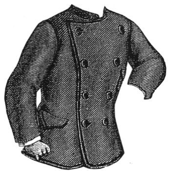 1877 Gray Jacket for Boy 9-11 Years Pattern