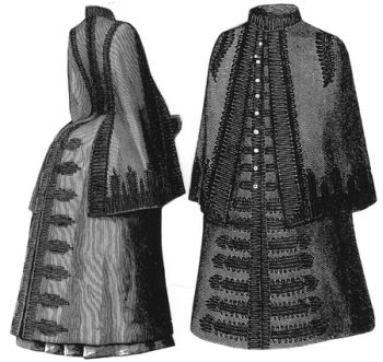 1887 Braided Cloak Pattern