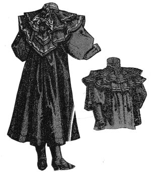 1894 Blue Serge Coat for Girl 8-10 Years Pattern