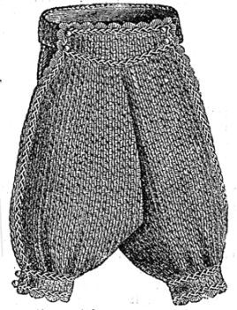 1876 Boy's Crochet & Point Russe Underdrawers Pattern