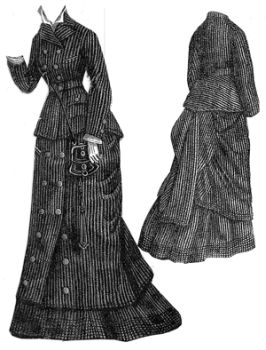 1876 Chevoit Cloth Traveling Suit Pattern